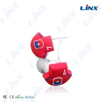3D logo cartoon in ear headphone