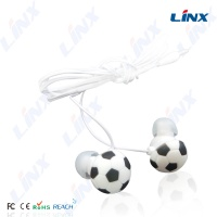Free samples cartoon football earphone professional OEM earphones & headphones