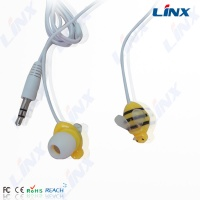 2014 smart designed cartoon earphone bee headphone