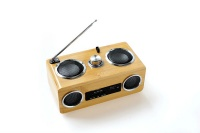 FM radio TF card bamboo speakers