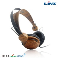 Mix-style wooden headphone_Best computer wood headset with mic_laptop wooden headphone LX-F4W