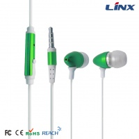 Mobile phone earphone with microphone