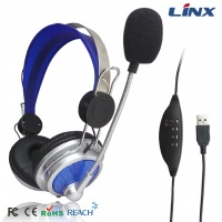 5.1-channel Surround USB Headphone with Wire Controller LX-USB02