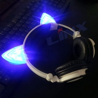 Portable top sale designer`s stereo glowing cat ear headphones
