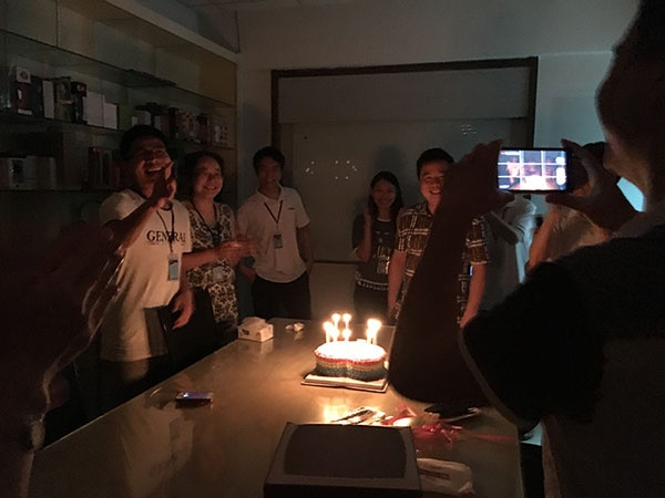 birthday party held by headphone manufacturer