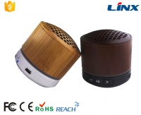 Portable Bamboo Bluetooth Speaker With Mic and Radio LX-BT02