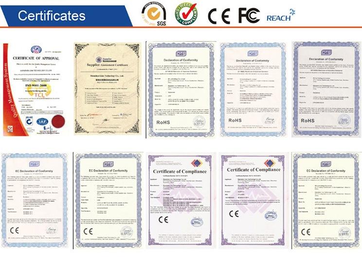 Honors certificates of earphone headphone supplier