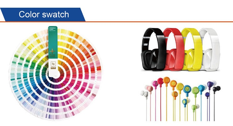color swatch of wireless bluetooth earphone