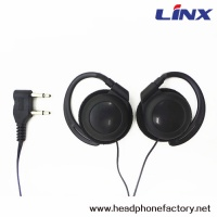 Wholesale Disposable Aviation Ear Hook earphone With Double Plug LX-AL04