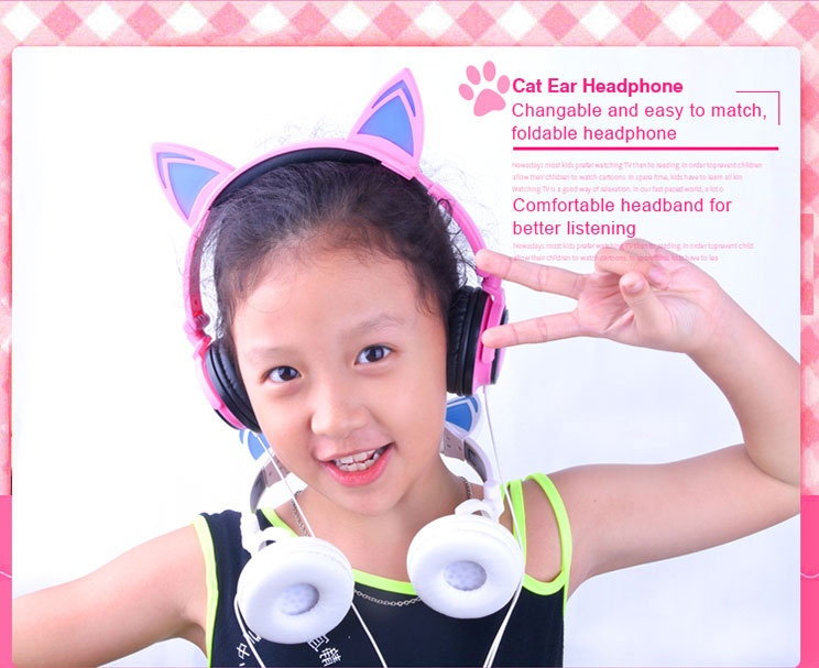 cat ear headphone  portable headphones