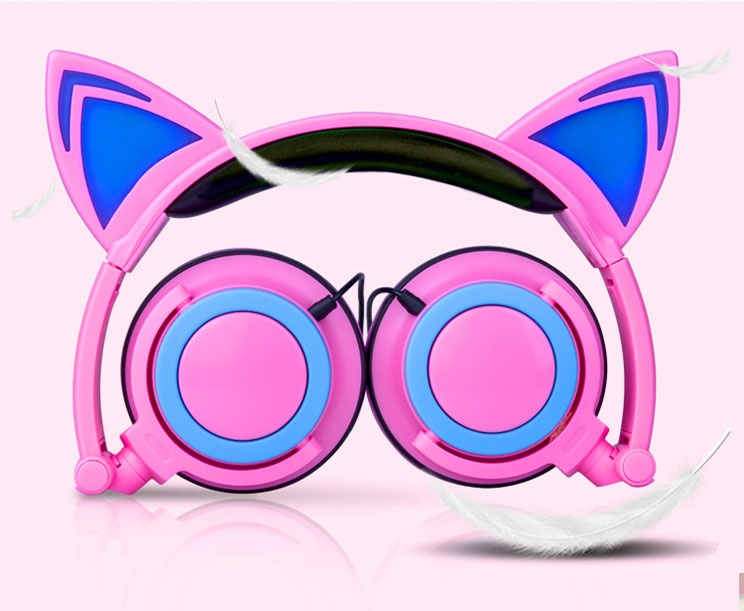 real shot of ear cat headphone