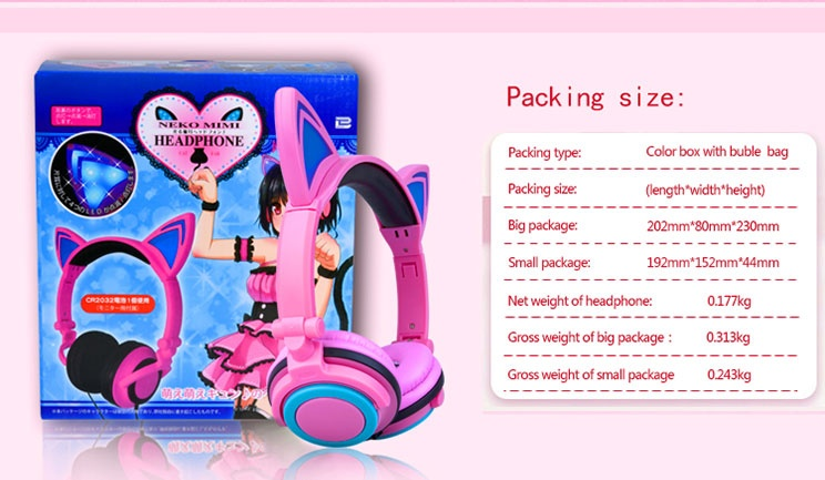 over ear headphone packages