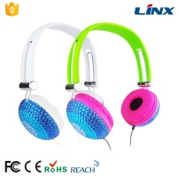 LX-131 Best coloful wired bling headphones for computer PC