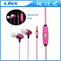LED Lighting Glowing Earphones Earbud for Mobile Phone