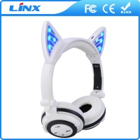 LX-BL107 Cute LED Glowing Cat Ear Wireless Bluetooth Headsets Headphones with Mic