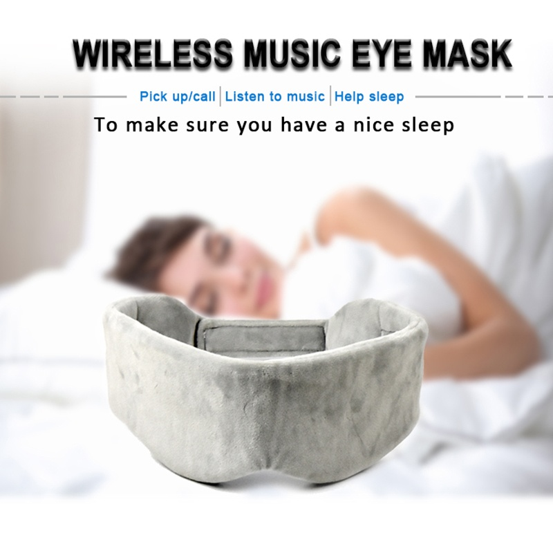 Wireless Bluetooth 5.0 Thin Speaker Sleep Headphone with Eye Mask